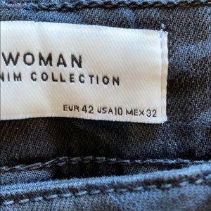 Zara Jeans - Zara high waist black zebra skinny jeans Sz 10 NWT